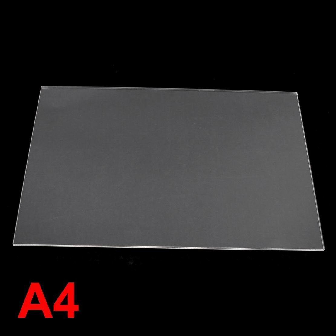 Clear Acrylic Plastic Sheets Perspex Panels A4 3mm Small Clear Windows Pack of 2
