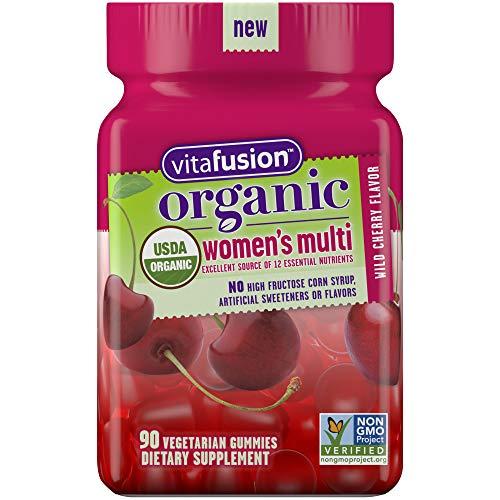 Vitafusion Organic Women's Gummy Multivitamin, 90 Count - Non-GMO, Gluten-Free, No Gelatin, No HFCS