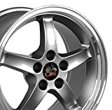 rims for 2003 mustang - 17x9 Wheel Fits Ford Mustang - Cobra R Style DD Gunmetal w/Mach'd Lip Rim