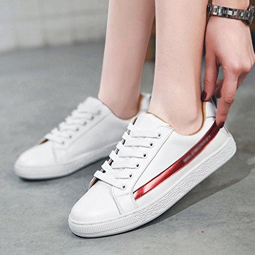 Des Taille Chaussures Du White Hwf De Black Red Couleur Occasionnels 36 Femmes Blanc Plaque Femme Printemps xYqwOgq