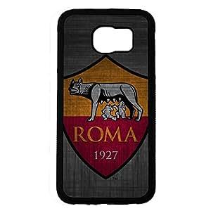 Associazione Sportiva Roma Logo Design Phone Case Black Hard Plastic Case Cover For Samsung Galaxy S6
