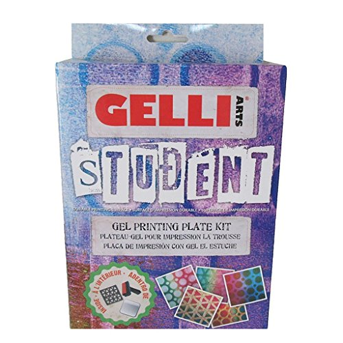 GEL PRINTING STUDENT PLATE KIT by Gelli Arts | Print gelly press, Kit includes 5X5 plate - paint roller and 2 geometric stencils