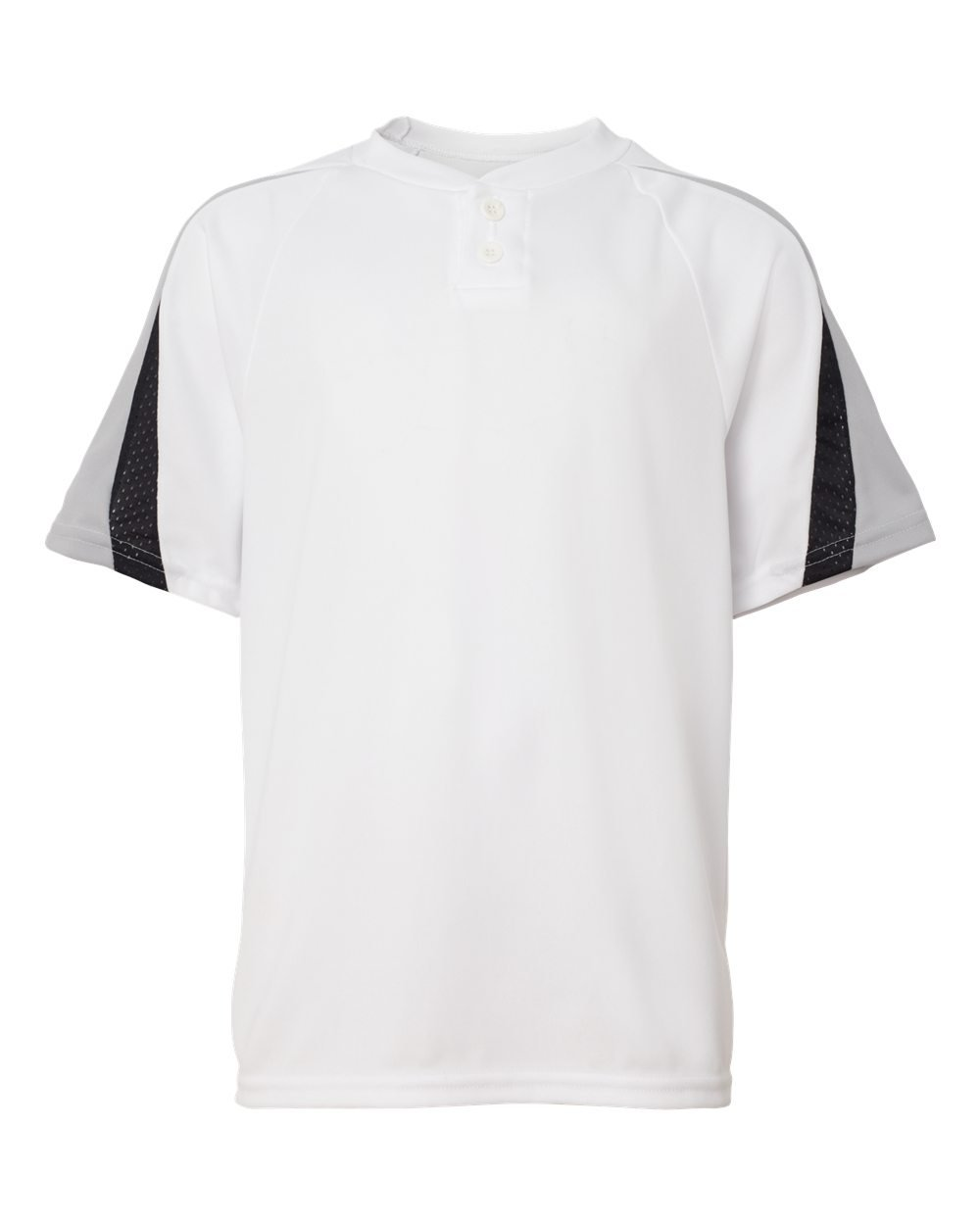 Augusta Sportswear Boys ' Power Plus野球ジャージー B007P86EQE Medium|White/Silver Grey/Black White/Silver Grey/Black Medium