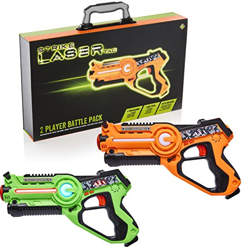 Strike Laser Tag 2 Player Pack & Deluxe Carry Case - Kids Infrared Gun...