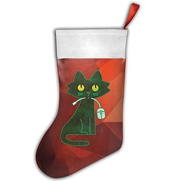 Diseño de hambre gato y un ratón de ordenador eléctrico Pretty Funny Navidad calcetines calcetines de Navidad decoración de Navidad: Amazon.es: Hogar
