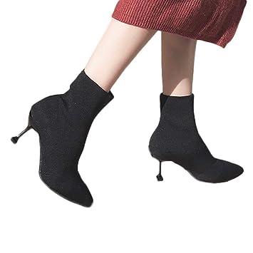b36222eab14a60 Chaussures Bottines Femme, Xinantime Chaussettes élastiques Pour femmes à  la Mode aveC Bout Pointu et