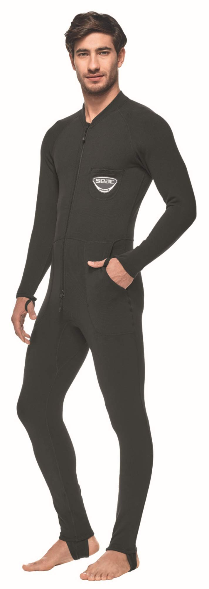 SEAC Unifleece Insulating Undergarment Dry Suit, Black, Medium by SEAC