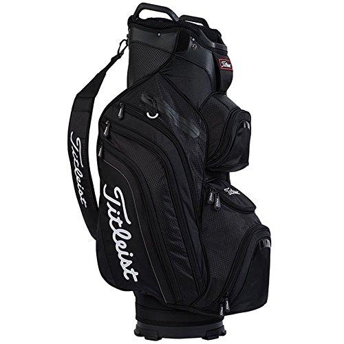 Titleist Deluxe Cart Bag, Black - Titleist 14 Way Cart Bag