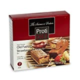 ProtiDiet Old Fashioned Strawberry & Peanuts Bar (7 bars of 1.52 oz, net 10.6 oz) - High Protein Strawberry & Peanuts Bar