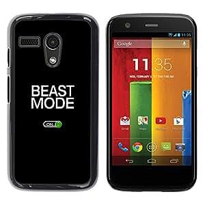 Stuss Case / Funda Carcasa protectora - Beast Mode Exercise Rogan Black Text - Motorola Moto G 1 1ST Gen I X1032