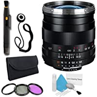 Zeiss 25mm f/2.8 Lens for Nikon Digital SLR Cameras + 67mm 3 Piece Filter Kit + Lens Cap Keeper + Deluxe Cleaning Kit + Lens Pen Cleaner DavisMAX Bundle International Model (No Warranty)