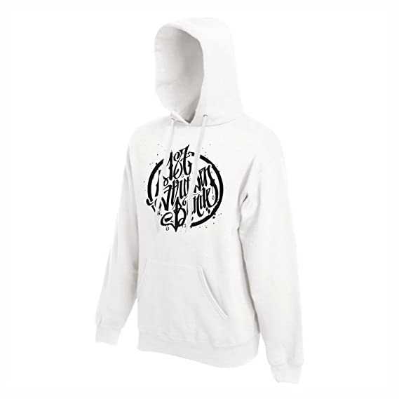 187 Straßenbande Logo Hoodie weißschwarz (S):