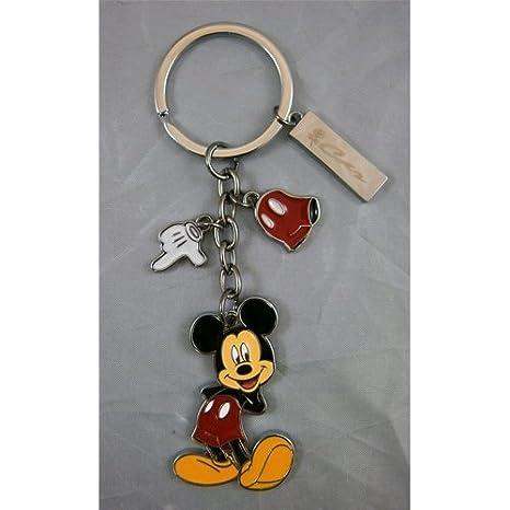Llavero Mickey Disney de metal multicolor con 3 Charm cm.12 ...