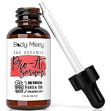 Body Merry Pro-A Serum - Anti Aging & Anti Wrinkle Face Serum w Retinol Serum 2. 5% to Minimize Lines & Spots - Enhanced w Best Natural Hyaluronic Acid, Green Tea, Vitamin E & Jojoba Oil for Day or Night Use