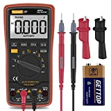 Digital-Multimeter,Auto-Ranging-Multimeter with Alligator Clips, AC Voltage Tester,Voltage Alert, Amp/Ohm/Volt Multi Tester/Diode and Continuity Test HZ with Backlight LCD Display