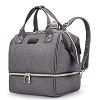 HaloVa Diaper Bag, Mini Mommy Maternity Baby Nappy Backpack, Dark Grey