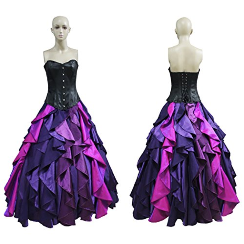 CosplayDiy Women's Sea Witch Ursula Princess Dress L
