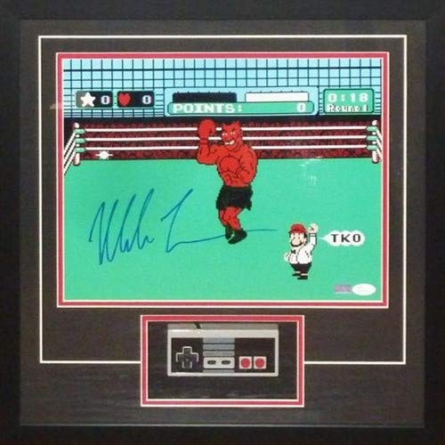 Mike Tyson Autographed Signed Auto Boxing Nintendo Punchout 11 14 Photograph Deluxe Framed Shadowbox with NES Controller JSA - Certified ()
