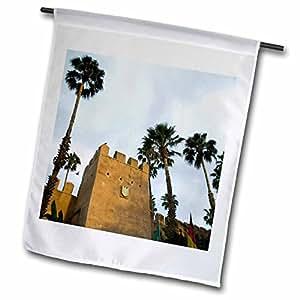Danita Delimont - Fortifications - MOROCCO, Souss, Hotel Palais Salam Palace, Ramparts-AF29 WBI1677 - Walter Bibikow - 12 x 18 inch Garden Flag (fl_72278_1)