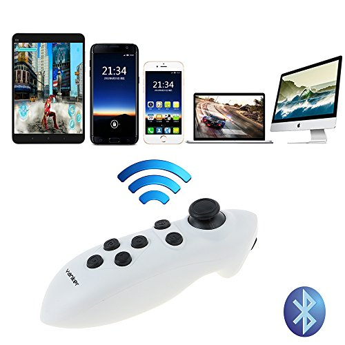 Bluetooth Controller VR BOX Gamepad Wireless Mouse Music Control Selfie Shutter for Android System Phone (Android Box Joystick)