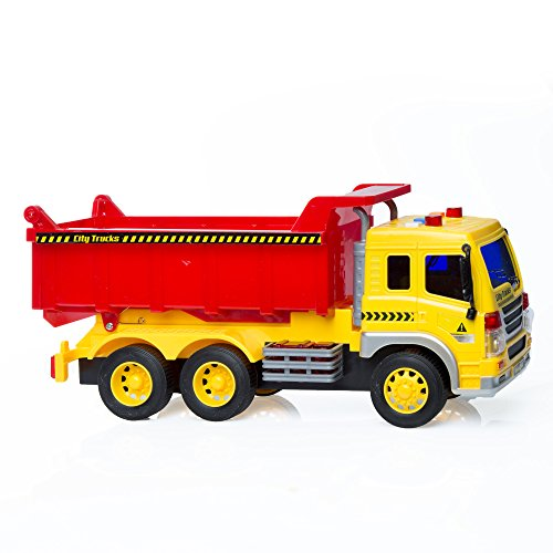 Friction Powered Dump Truck Toy With Lights   Sounds For Kids