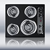 Summit TEL03 24' Black Electric Coil Cooktop