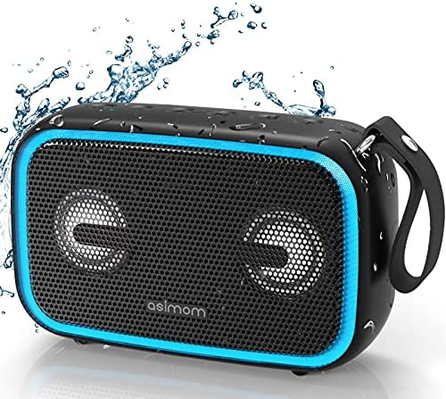 Bluetooth Speaker, ASIMOM IPX7 Waterproof Transportable Audio system, Beat-Pushed LED Mild, Bluetooth 5.0, 28W Loud Bass, Construct-in Mic, Wi-fi Stereo Pairing, Waterproof Bluetooth Speaker for Out of doors Seaside