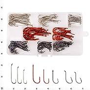 Fly Tying Fishing Hooks Assortment Freshwater Hooks Kit- 160Pcs Accessories Box Octopus Hooks Baitholder Hooks