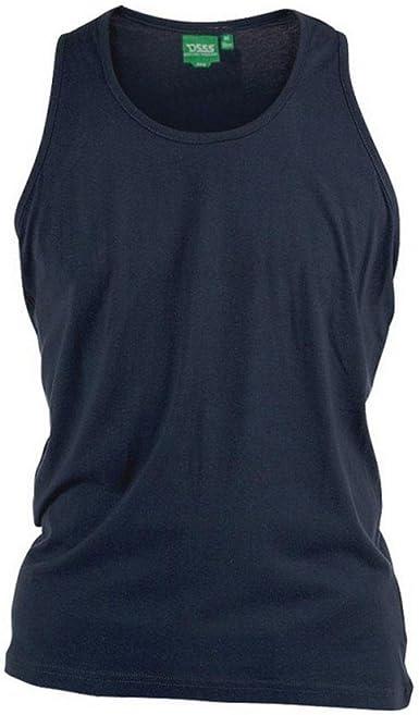 D555 Hombre Duke Grande Alto Tamaño King Fabio Camiseta de Algodón sin Mangas - Azul Marino, XXXXX-Large: Amazon.es: Ropa y accesorios