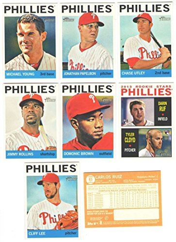 Philadelphia Phillies 2013 Topps Heritage MLB Baseball Mint 10 Card Basic Team Set
