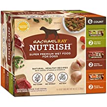 Rachael Ray Nutrish Natural Wet Dog Food, Variety Pack, 8 oz. tub (Pack of 6)