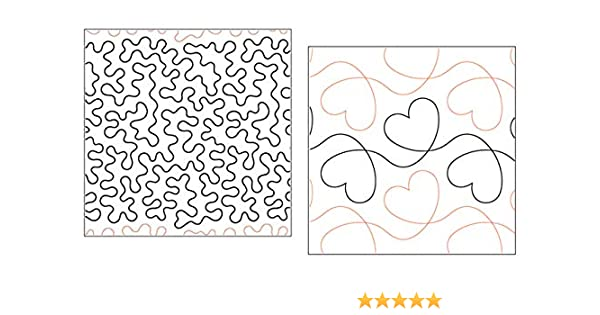 Basic Stipple and Heart Design Quilt Pantographs Set of 2 Rolls of Paper Pantograph Patterns for Longarm Quilting Machines Quilting Creations Pantographs for Quilting