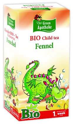 Fennel Tea for Babies from 1st Week of Age. Pack of 20 Filter teabags. by Apotheke. Mediate
