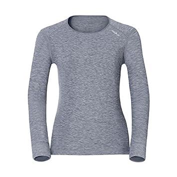 Odlo Shirt l/s Crew Neck Warm Ropa Interior, Mujer, Gris, XX