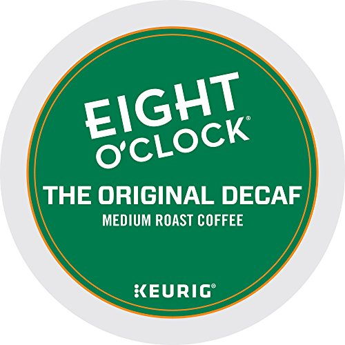 Eight O'Clock Coffee The Original Decaf, Keurig Single-Serve K-Cup Pods, Medium Roast Coffee, 72 Count (6 Boxes of 12 Pods)