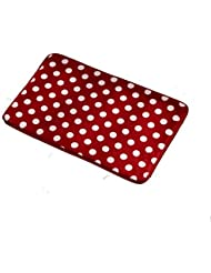 Ordinaire Carpet For Restroom Kitchen Rug Non Skid Doormat Floor Mat Rug Red With  White Dot