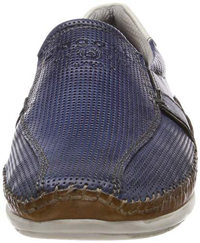 Cognac Bugatti Blue dark 4163 Para Azul Hombre 321700604141 Mocasines pBpwgq7Z