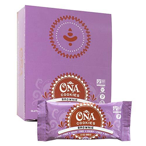Brownie Cookies by Ona – Paleo, Gluten Free, Dairy Free, Honey Sweetened Healthy Treats – 12 Pack