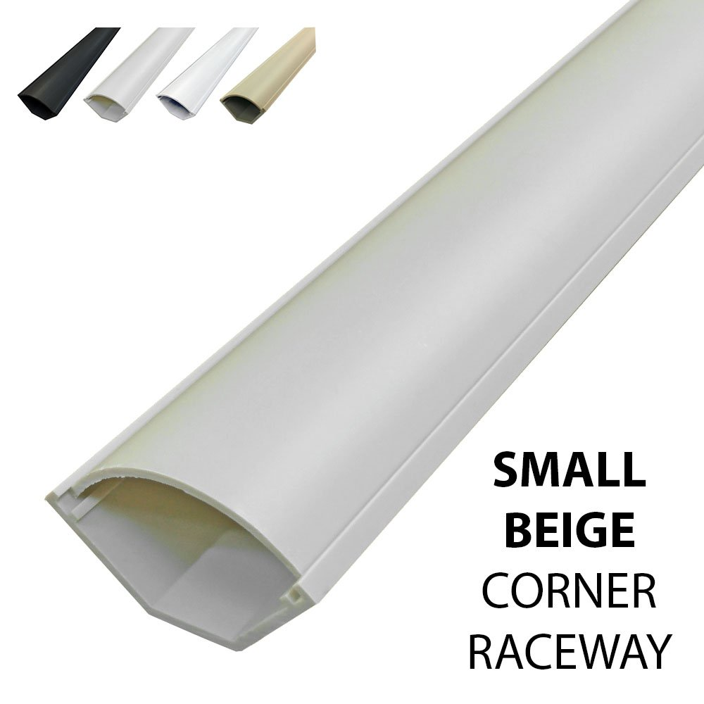 Amazon.com: Small Corner Duct Cable Raceway (1075 Series) - 5 Feet ...