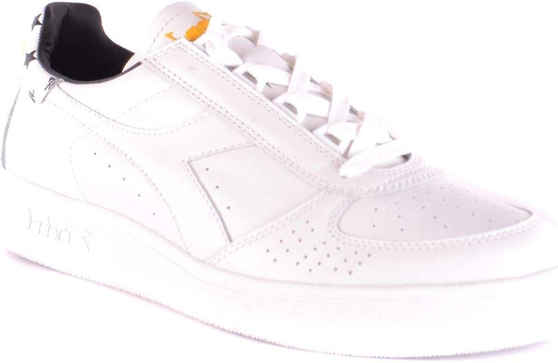 Diadora Luxury Fashion Uomo MCBI33410 Bianco Pelle Sneakers