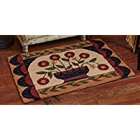 Park Designs Flower Basket Hooked Rug, 24 x 36