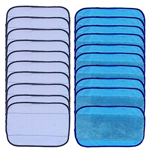 20-Pack Mixed Microfiber Mopping Cloths 10 wet + 10 dry for