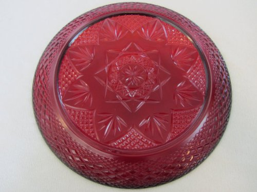Vintage Arcoroc Luminarc Ruby Red 10 Inch Dinner Plate