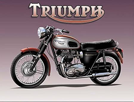 Triumph Bonneville Motor Bike Cycle Classic British Triumph Logo