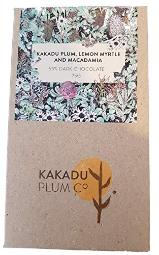 Australian Bush Superfood Chocolate: Kakadu Plum, Lemon Myrtle and Macadamia Dark Chocolate 75g