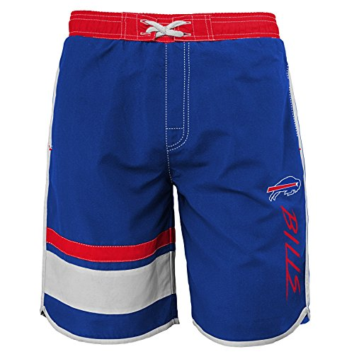 NFL Buffalo Bills Youth 8-20 Swim Trunk, X-Large (18), Royal