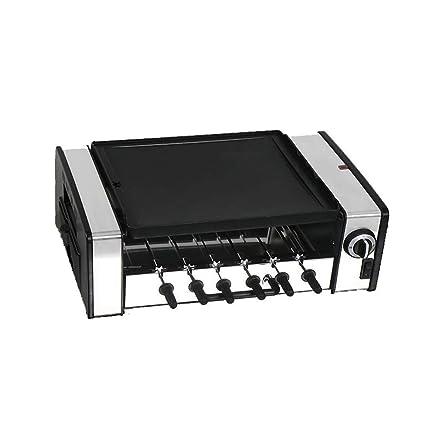 Parrilla eléctrica Parrilla de barbacoa Para el hogar Parrilla giratoria automática Cocina Portátil Limpieza grande Fácil