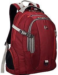 """Commute Laptop Backpack With 16"""" Laptop Pocket & 10"""" Tablet Pocket - Red"""