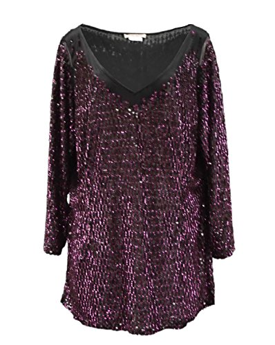 marina-rinaldi-womens-sequin-anzino-dressy-tunic-top-sz-xl-black-purple-120054