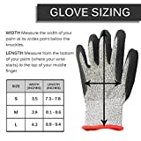 Full Grip Gloves | Military Grade HPPE with Nitrile Coating Dipped Gloves for the Ultimate Hand Protection, Lightweight and Cut Resistant, Fit Any Hands (S, M , L), Vibrant Gray Black (Large)